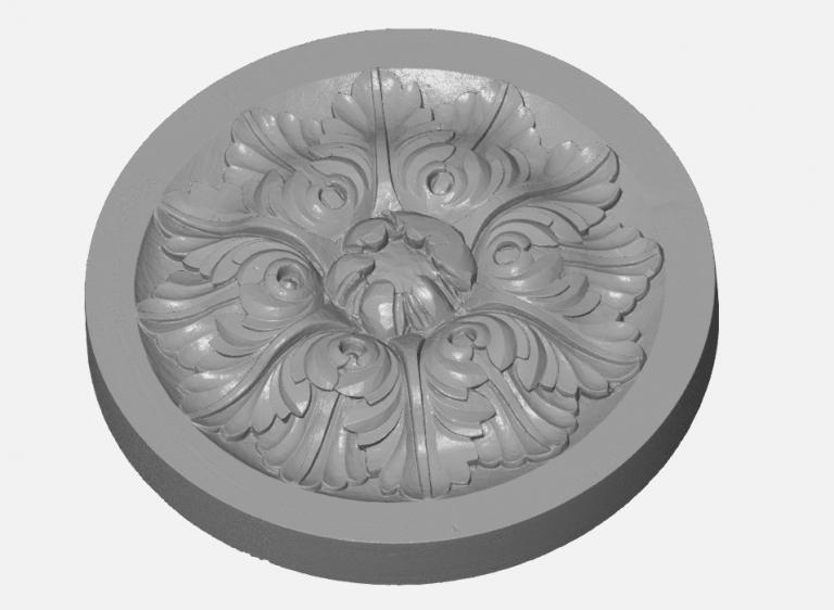 Сканирование лепнины для реставрации